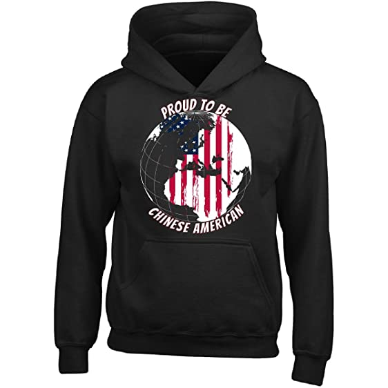 Amazon klarkite industries proud to be chinese american on proud to be chinese american on world map with american flag girl girls hoodie gumiabroncs Gallery