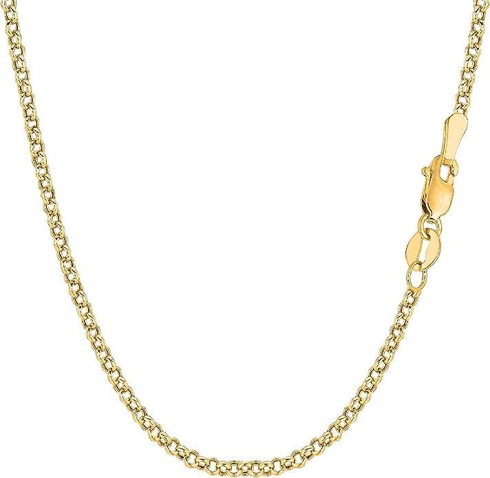Chaîne en or jaune massif 18 carats 750//1000 18K maille Marine 40,42,45,55cm