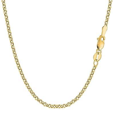 Chaîne maille Jaseron en or jaune 18 carats Unisexe largeur 2.70 mm  longueur au choix (45)  Amazon.fr  Bijoux fb70d1d20063