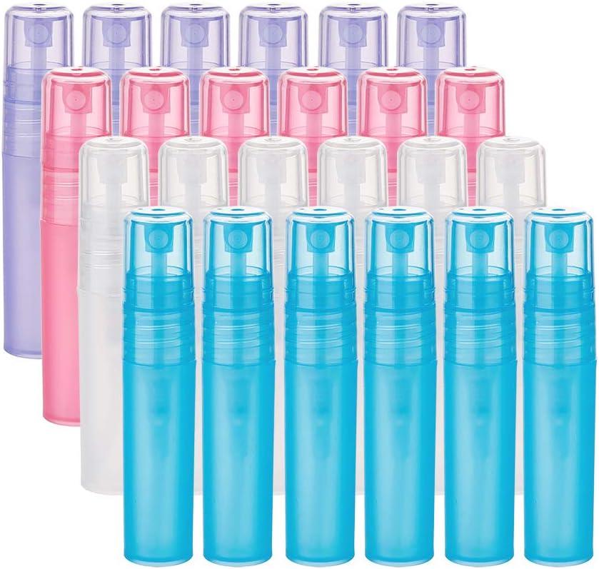 Botellas Recargables y Port/átil BENECREAT 24 Pack 30ml Botellas Transparente de Viaje para Cosm/ético con Tapa Presi/ón Contenedores Vac/íos de Pl/ástico Pet para Jab/ón de Manos Limpiador Facial
