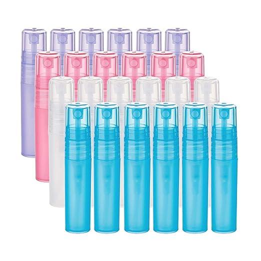 BENECREAT 24 Pack 5ml Botella Plástica Vacía de Spray de 4 Coloes ...