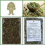 Natural Green Whole Cardamom Pods (elaichi, elachi, hal) - 7 Oz, 200g. by Ganeshaspice