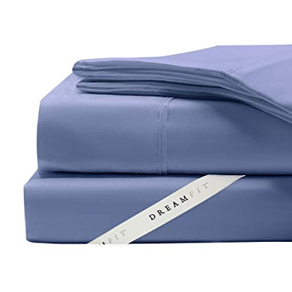 Amazoncom Dreamfit Bamboo Degree 5 Blue Split King Sheet Set Home