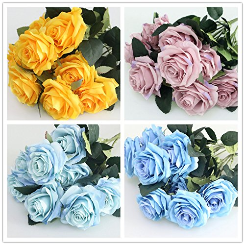 Artificial-Silk-Fake-Flowers-Rose-Floral-Decor-Bouquet-10-Heads-Fake-Flowers-for-Decoration-in-Vase-Silk-Flowers-in-Vase-for-Home-Decor-Dusty-Rose-Silk-Flowers-Bunch-Roses-Lilac-Pink