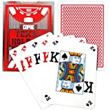 Copag Poker Size Peek Index Texas Holdem Playing Cards (Single Red Deck)