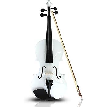 Violin 4/4 Acustico Profesional Madera Estuche Y Accesorios - Blanco