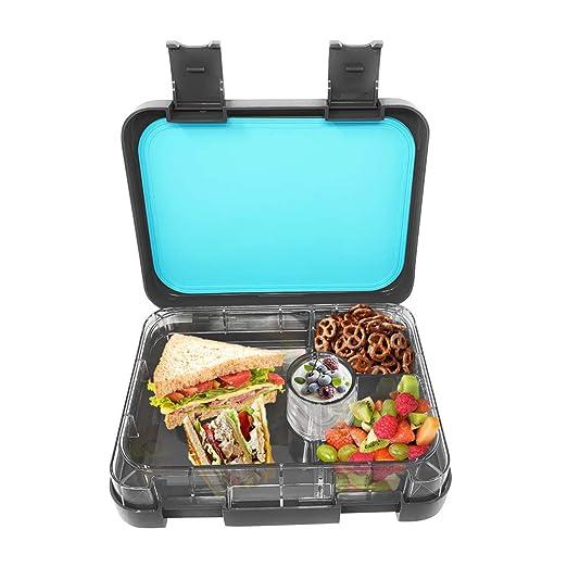 Bento caja de almuerzo espacio gris a prueba de fugas 4 ...