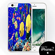 Tropical Fish White Silicone Case for iPhone 7 (4.7) by Compass Litho