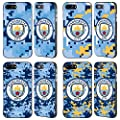 Official Manchester City Man City FC Digital Camouflage Black Fender Case for Apple iPhone 7 Plus / iPhone 8 Plus