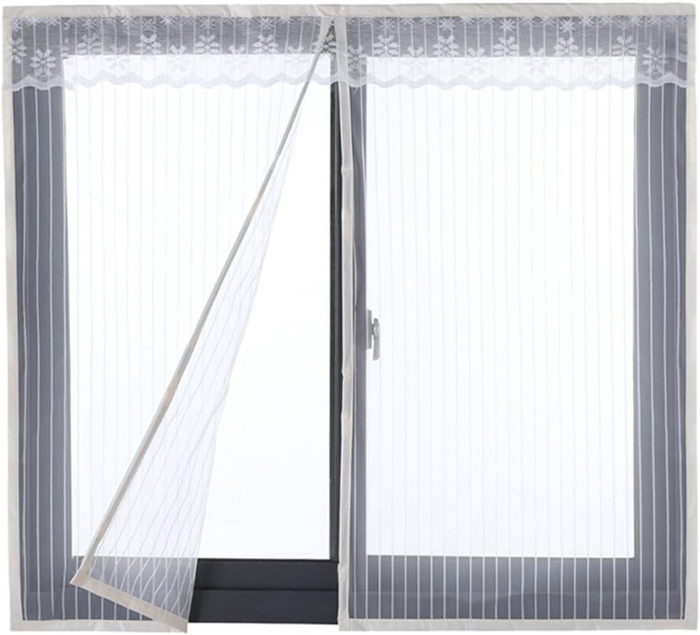 Icegrey Fliegengitter T/ür Fenster Ohne Bohren Insektenschutz Magnet Fliegenvorhang F/ür Schiebefenster Dachfenster Grau 200x200cm
