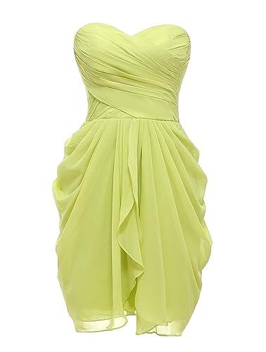 Belle Dress Chiffon Bridesmaid Dresses Short for Women