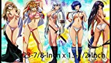 #4 - Yu-gi-oh Battle Vixens PLAYMAT, Yu-gi-oh Ikki Tousen Play mat | Size 23-7/8-Inch x 13-1/2-Inch (AArt)