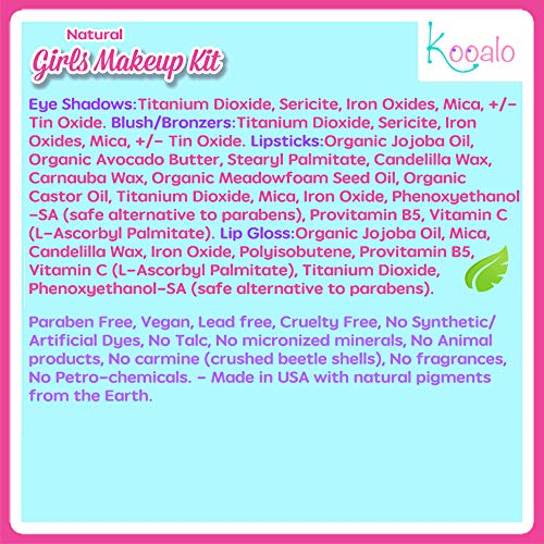 Kooalo Natural Makeup Kit for Young Girls and Kids - Import