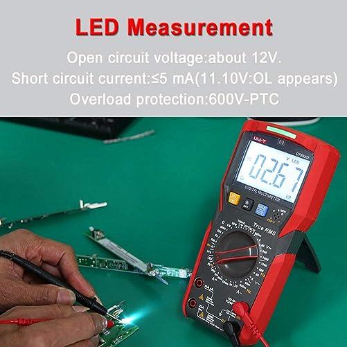 UNI-T UT89XD Digital Multimeter,TRMS 6000 Counts Volt Meter Manual Ranging,Measures AC DC Voltage Tester,Resistance,Capacitance,Diode,NCV,Temperature,LED Test UT89XD