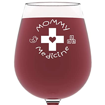 mommy medicine funny wine glass 13 oz best christmas gifts for mom unique gift