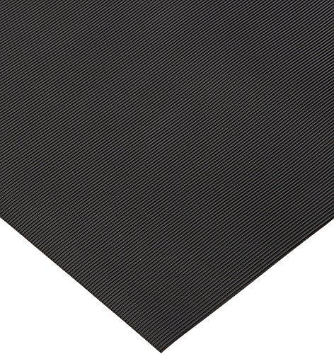 Rhino Mats SB436-3636 Corrugated Rubber Insulating Switchboard Mat, 3' Width x 3' Length x 1/4
