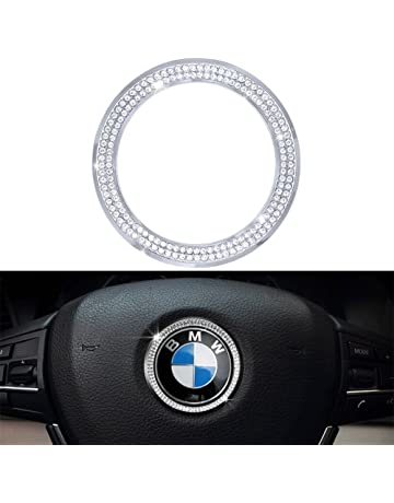59c980f7bc2b 1797 Compatible Steering Wheel LOGO Caps BMW Accessories Parts Trim Covers  Decal Sticker Bling Interior Visors