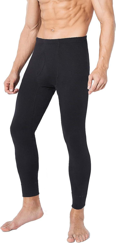 New Men Long Johns Soft Warm Underwear Leggings Solid Color Thermal Bottom Pants
