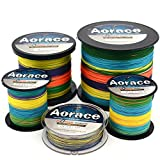 Aorace Braid Fishing Line 20LB Strong and Abrasion Resistant 500M Fiber Material Fishing Line Multicolor Advanced Superline
