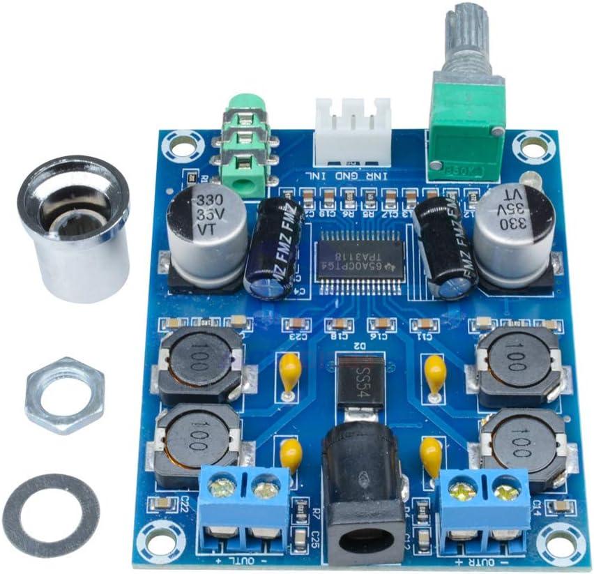 HiLetgo TPA3118D2 Stereo Power Amplifier Module Audio Power Amplifier Board DC 12V 24V 28V Dual Channel 45W*2 Digital HD Edition