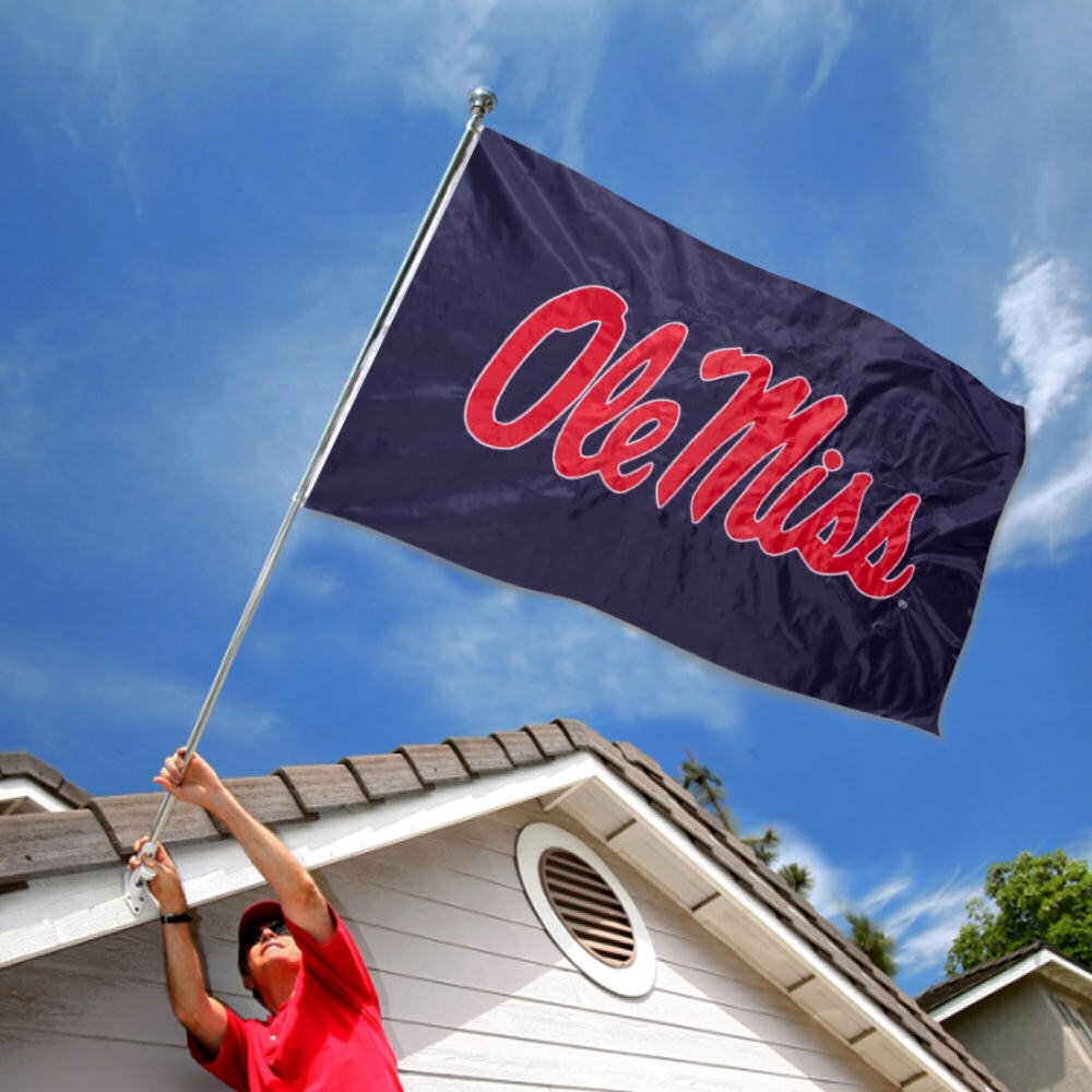 University of Mississippi Embroidered and Stitched Nylon Flag