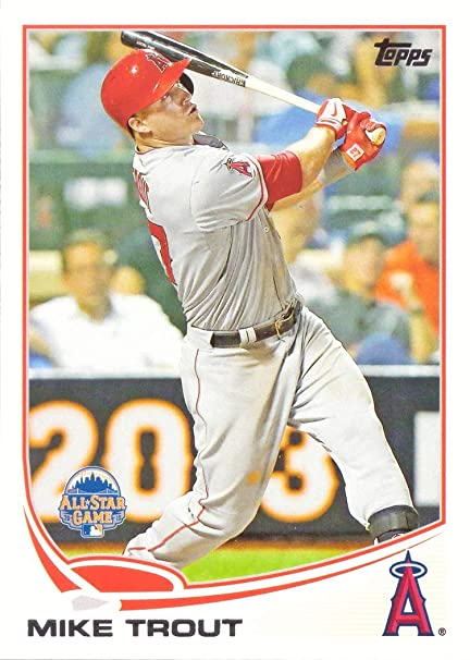 2013 Topps Update Us300 Mike Trout Baseball Card All Star