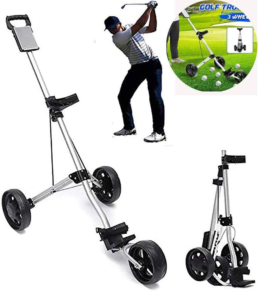 BCQ Carrito de Golf Push Pull, Carro Golf 3 Ruedas con Portavasos ...
