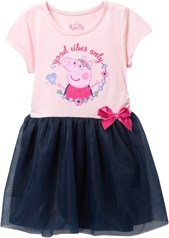 Peppa Pig Toddler Girls Roller Girl 2 Piece T-Shirt and Skirt Set