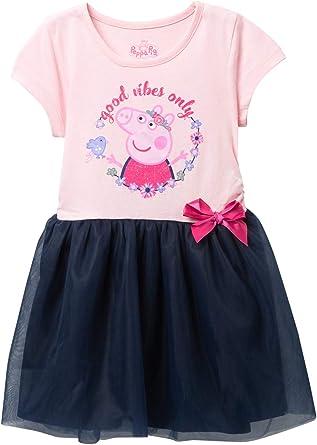 Peppa Pig Girls Blue /& Pink Leggings 2 Pack