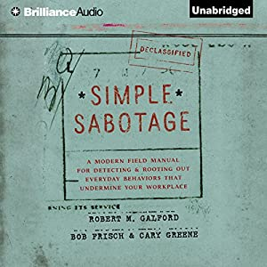Simple Sabotage Audiobook