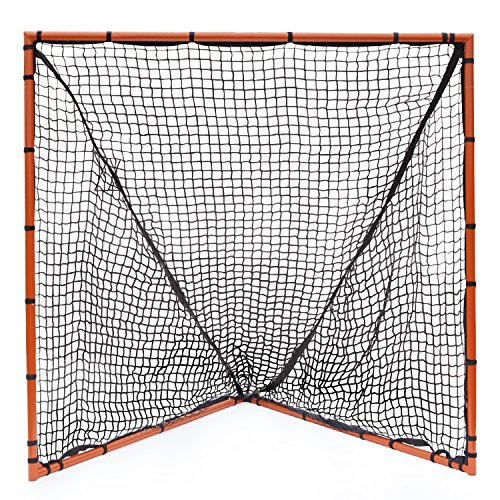 Champion Sports Backyard Lacrosse Goal: 6x6 Boys & Girls Official Size Goal with Net, Orange