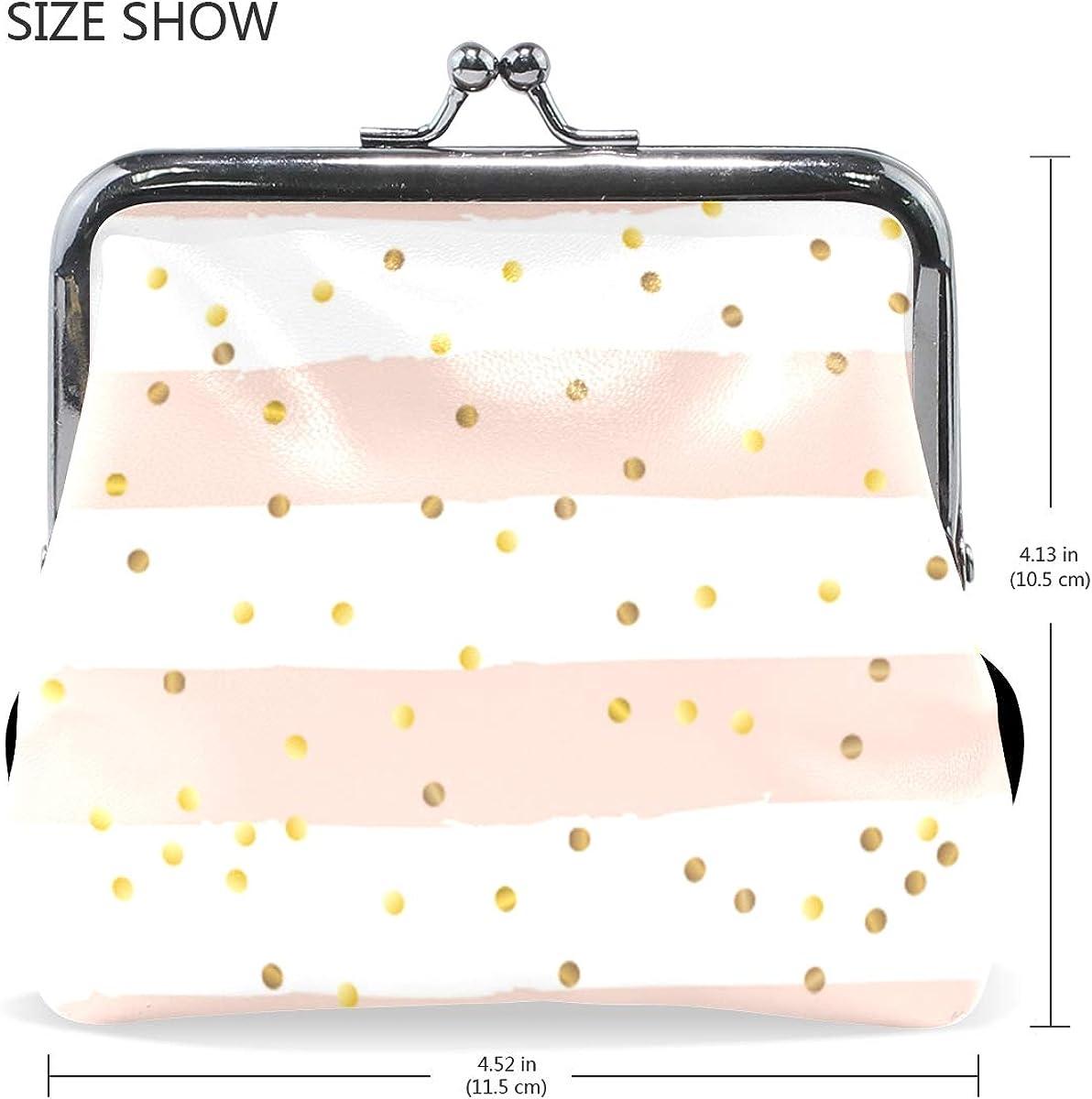 LALATOP Gold Confetti Grunge Striped Womens Coin Pouch Purse wallet Card Holder Clutch Handbag