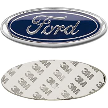 X  Ford Front Grille Tailgate Emblem Oval Dark Blue Decal Badge Nameplate For      Expedition