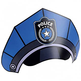 Cappello da Agente di Polizia Compleanno Bambini 8 Cappellini da Compleanno Stile Poliziotto Cappelli per Festa Copricapo per festeggiamento poliziesco Berrettini Simpatici per ricorrenze a mo' di