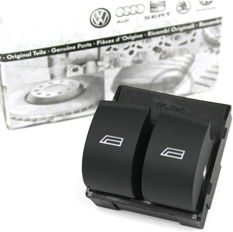 8Z A4 Original Audi A2 Schalter 4-fach Fensterheber elektrisch Fahrert/ür links Fensterheberschalter schwarz B6 8E