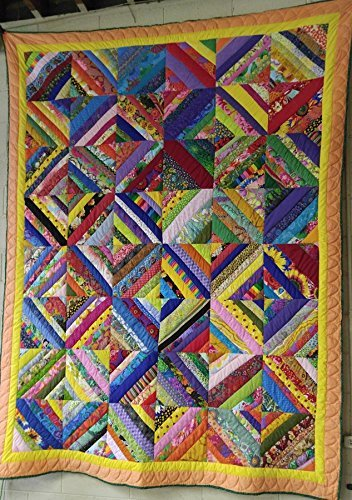 Image of Absolutely Beautiful Crazy String Quilt Home and Kitchen