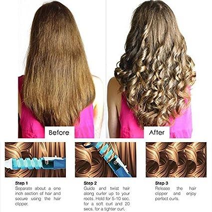 Amazon.com: Electric Magic Hair Styling Tool Rizador De Pelo Hair Curler Roller Pro Spiral Curling Iron Wand Curl Styler eu plug - Blue: Home Improvement