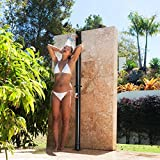 Giantex 7.2Ft 2-Section Solar Heated Shower with