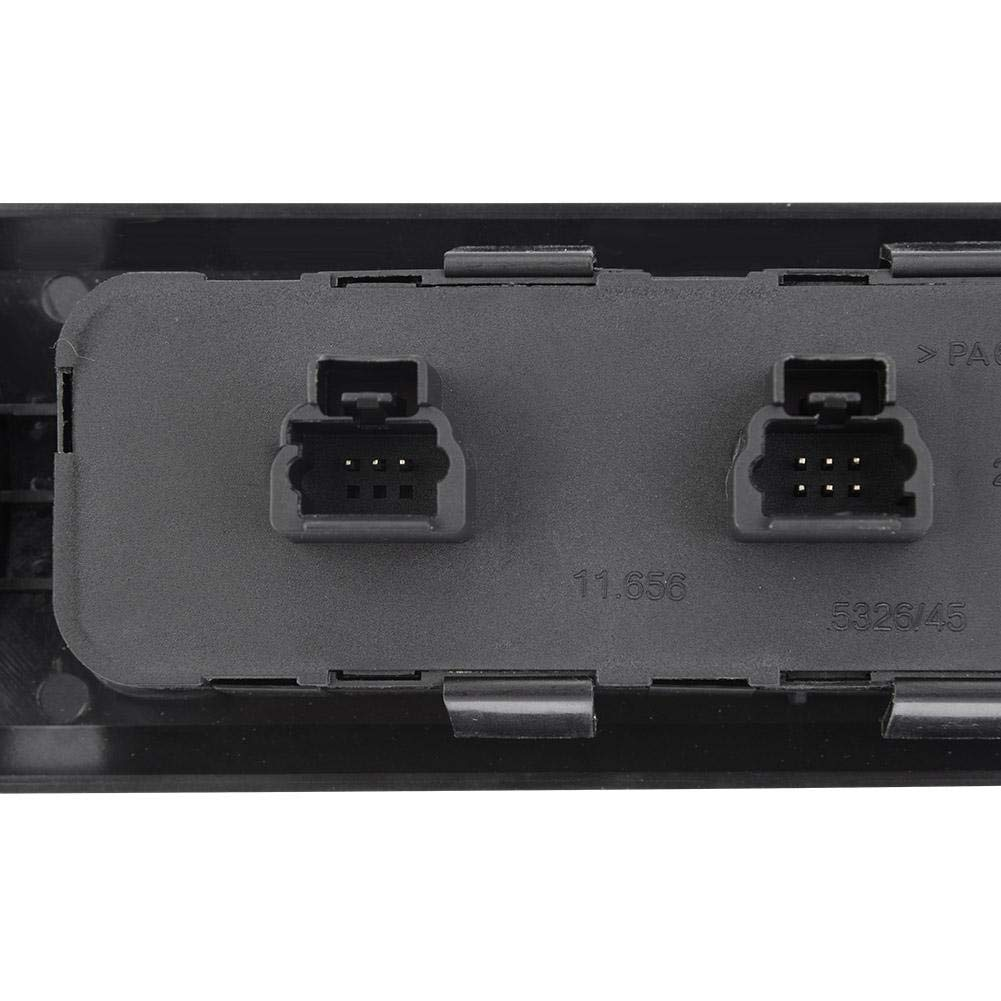 delantero izquierdo Qiilu Interruptor de La Ventana 6554.ER Botonera Elevalunas para 407 6D 6C 6E
