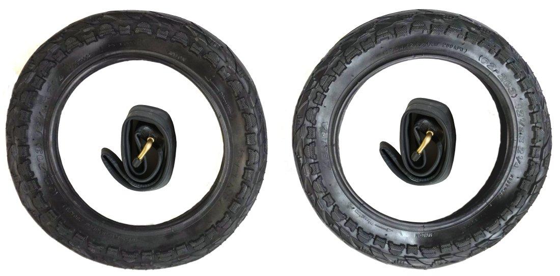2x Reifen + 2x Schlauch CBK-MS® 12 - 12 1/2 x 2 1/4 = 62-203 Kinderwagen Roller Dreirad -CBK-MS® verschiedene