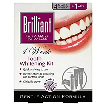 Brilliant 1 Week Tooth Whitening Kit 4 Shades Whiter In 1 Week