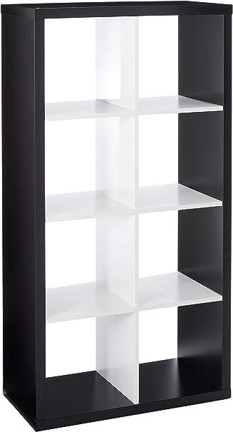 Ikea Kallax - Estantería para libros (color negro y blanco ...
