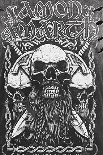 Amon Amarth Beardskulls Top Mujer Gris oscuro Gris oscuro