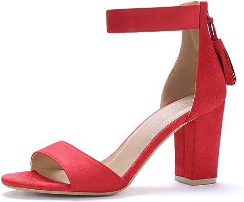 Tassel Ankle Strap Sandals