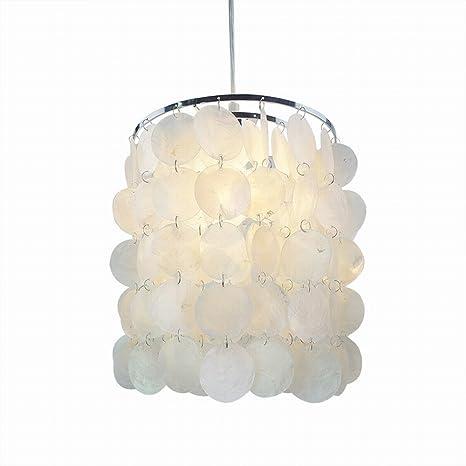 mini diy white capiz seashell chandelier pendant light fixtures d9