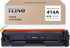 TEINO (No Chip) Compatible Toner Cartridge Replacement for HP 414A W2020A use with HP Color Laserjet Pro MFP M479fdw M479fdn Laserjet Pro M454dw M454dn (Black, 1-Pack)