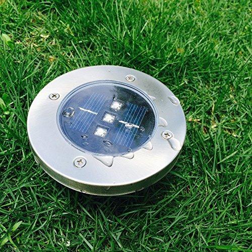 New release solar landscape lights path garden walkway for In ground walkway lights