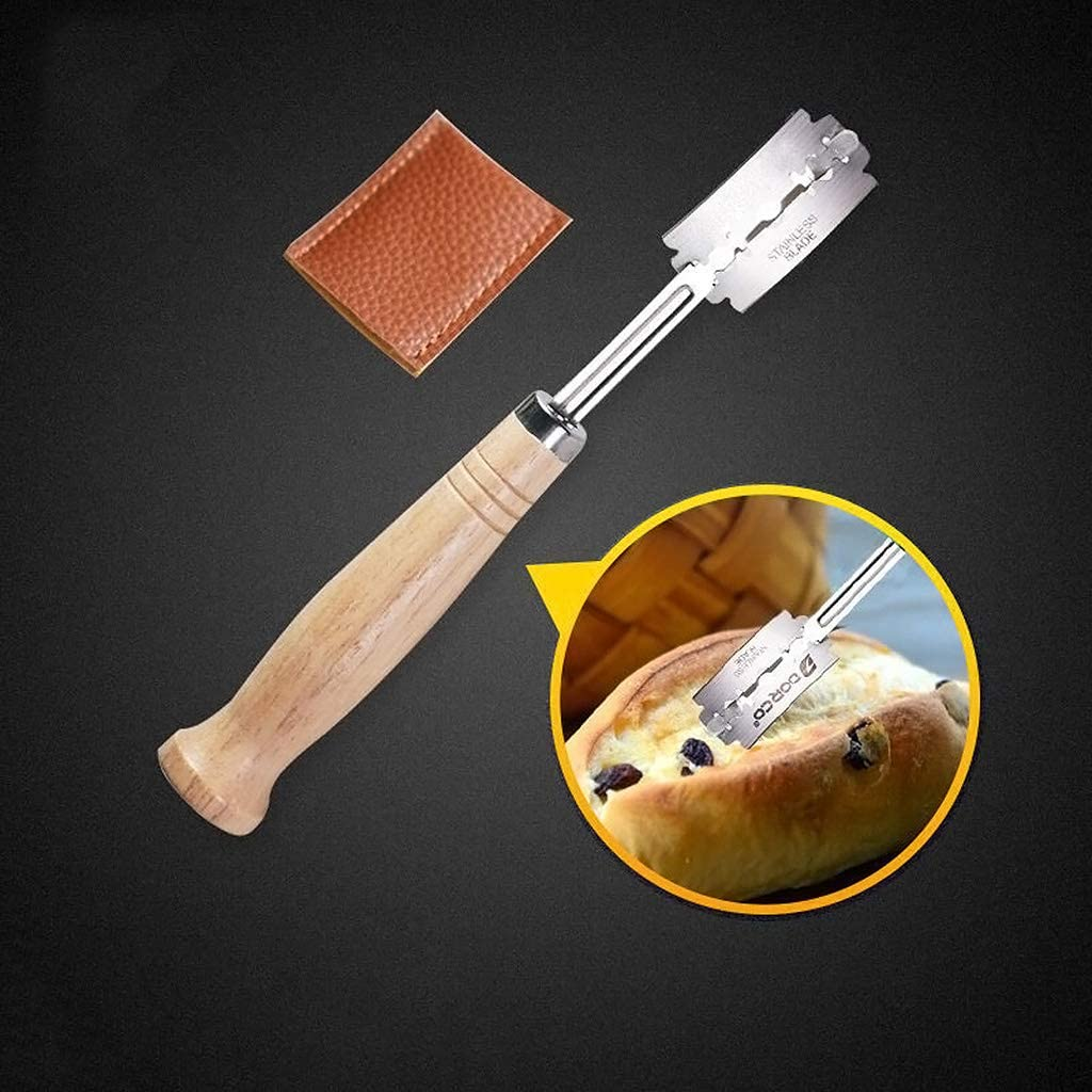 4 pezzi Coltello curvo con manico in legno Ycncixwd Specialty