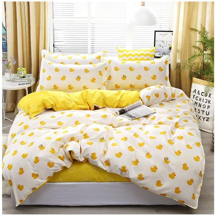 Cute Duck Cotton Bedding Quilt Duvet Cover Set Pillowcase Single Queen King Size