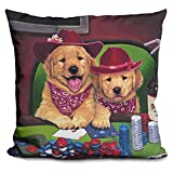 LiLiPi Poker Dogs Decorative Accent Throw Pillow